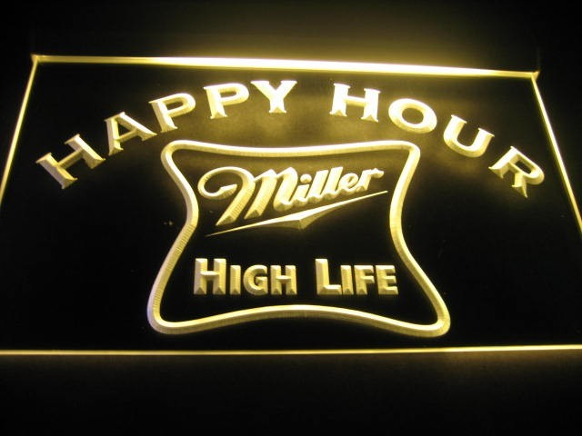 Happy hour miller high life bar light sign neon happy hour miller happy hour miller high life bar light sign neon larger image aloadofball Images