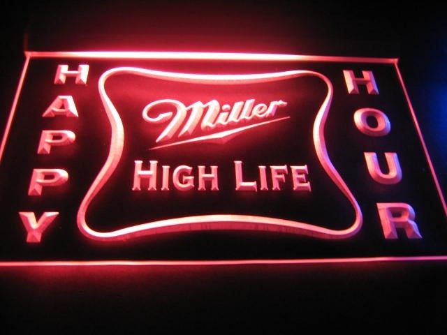 Happy hour miller high life bar light sign happy hour miller high happy hour miller high life bar light sign larger image aloadofball Images