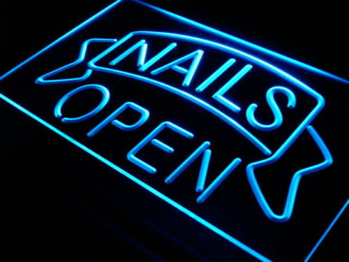 Nails Open Beauty Salon Shop Neon Light Sign Larger Image