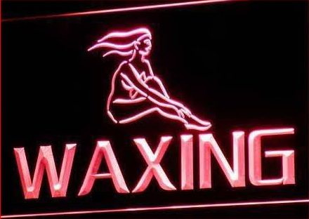 OPEN Waxing Beauty Salon Retail Neon Light Sign Larger Image